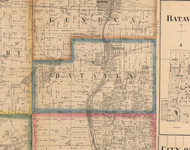 Batavia, Illinois 1860 Old Town Map Custom Print - Kane Co.