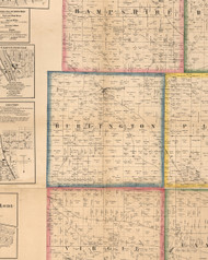 Burlington, Illinois 1860 Old Town Map Custom Print - Kane Co.