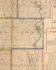Elgin, Illinois 1860 Old Town Map Custom Print - Kane Co.