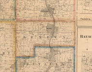 Geneva, Illinois 1860 Old Town Map Custom Print - Kane Co.