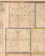 Hamsphire, Illinois 1860 Old Town Map Custom Print - Kane Co.