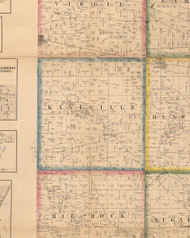 Kaneville, Illinois 1860 Old Town Map Custom Print - Kane Co.