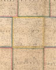 Plato, Illinois 1860 Old Town Map Custom Print - Kane Co.
