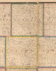 Rutland, Illinois 1860 Old Town Map Custom Print - Kane Co.