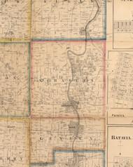 St Charles, Illinois 1860 Old Town Map Custom Print - Kane Co.