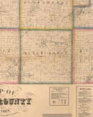 Sugar Grove, Illinois 1860 Old Town Map Custom Print - Kane Co.