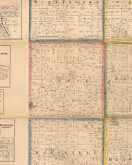 Virgil, Illinois 1860 Old Town Map Custom Print - Kane Co.