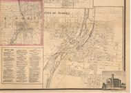 Aurora Village - Kane Co., Illinois 1860 Old Town Map Custom Print - Kane Co.