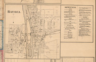Batavia Village - Kane Co., Illinois 1860 Old Town Map Custom Print - Kane Co.