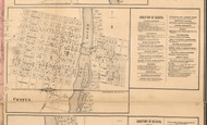 Geneva Village - Kane Co., Illinois 1860 Old Town Map Custom Print - Kane Co.