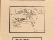 Kaneville Village - Kane Co., Illinois 1860 Old Town Map Custom Print - Kane Co.