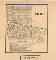 Lode Village - Kane Co., Illinois 1860 Old Town Map Custom Print - Kane Co.