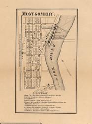 Montgomery Village - Kane Co., Illinois 1860 Old Town Map Custom Print - Kane Co.