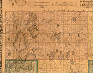 Antioch, Illinois 1861 Old Town Map Custom Print - Lake Co.