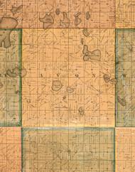 Avon, Illinois 1861 Old Town Map Custom Print - Lake Co.