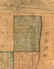 Benton, Illinois 1861 Old Town Map Custom Print - Lake Co.