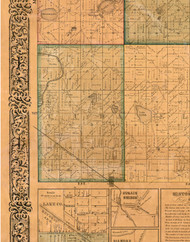 Cuba, Illinois 1861 Old Town Map Custom Print - Lake Co.