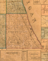 Deerfield, Illinois 1861 Old Town Map Custom Print - Lake Co.