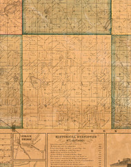 Ela, Illinois 1861 Old Town Map Custom Print - Lake Co.