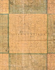 Libertyville, Illinois 1861 Old Town Map Custom Print - Lake Co.