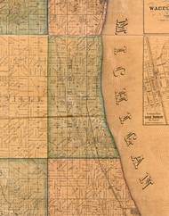 Shields, Illinois 1861 Old Town Map Custom Print - Lake Co.