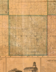 Vernon, Illinois 1861 Old Town Map Custom Print - Lake Co.