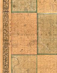 Wauconda, Illinois 1861 Old Town Map Custom Print - Lake Co.