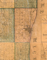 Waukegan, Illinois 1861 Old Town Map Custom Print - Lake Co.