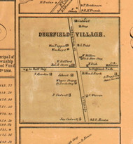 Deerfield Village - Lake Co., Illinois 1861 Old Town Map Custom Print - Lake Co.