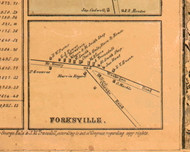 Forksville Village - Lake Co., Illinois 1861 Old Town Map Custom Print - Lake Co.