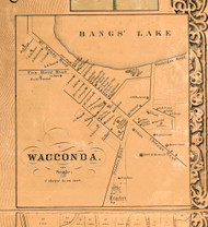 Wauconda Village - Lake Co., Illinois 1861 Old Town Map Custom Print - Lake Co.