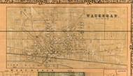 Waukegan Village - Lake Co., Illinois 1861 Old Town Map Custom Print - Lake Co.