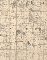 Avon, Illinois 1873 Old Town Map Custom Print - Lake Co.