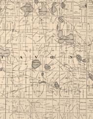 Avon, Illinois 1873 Old Town Map Custom Print - Lake Co.
