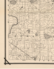Cuba, Illinois 1873 Old Town Map Custom Print - Lake Co.