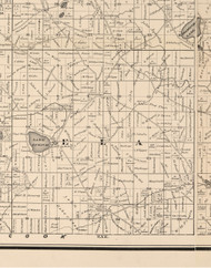 Ela, Illinois 1873 Old Town Map Custom Print - Lake Co.