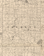 Fremont, Illinois 1873 Old Town Map Custom Print - Lake Co.