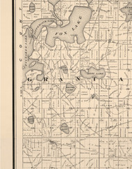 Grant, Illinois 1873 Old Town Map Custom Print - Lake Co.
