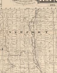 Newport, Illinois 1873 Old Town Map Custom Print - Lake Co.