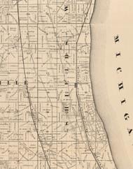 Shields, Illinois 1873 Old Town Map Custom Print - Lake Co.