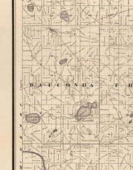 Wauconda, Illinois 1873 Old Town Map Custom Print - Lake Co.