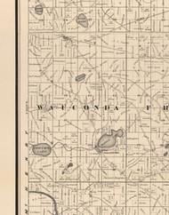 Wauconda, Illinois 1873 Old Town Map Custom Print - Lake Co.