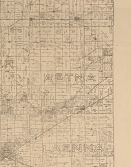 Aetna, Illinois 1893 Old Town Map Custom Print - Logan Co.