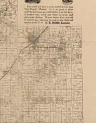 Atlanta, Illinois 1893 Old Town Map Custom Print - Logan Co.