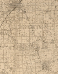 Chester, Illinois 1893 Old Town Map Custom Print - Logan Co.