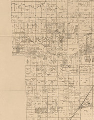 Corwin, Illinois 1893 Old Town Map Custom Print - Logan Co.