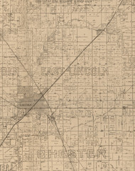 East Lincoln, Illinois 1893 Old Town Map Custom Print - Logan Co.