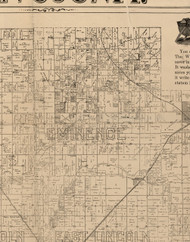 Eminence, Illinois 1893 Old Town Map Custom Print - Logan Co.