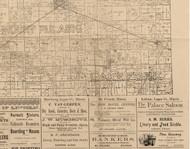 Lake Fork, Illinois 1893 Old Town Map Custom Print - Logan Co.