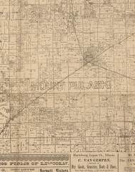 Mount Pulaski, Illinois 1893 Old Town Map Custom Print - Logan Co.